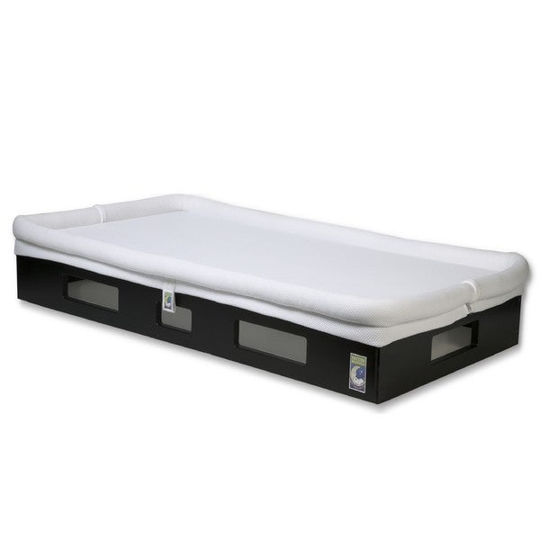SafeSleep Espresso Base White Breathable Crib Mattress