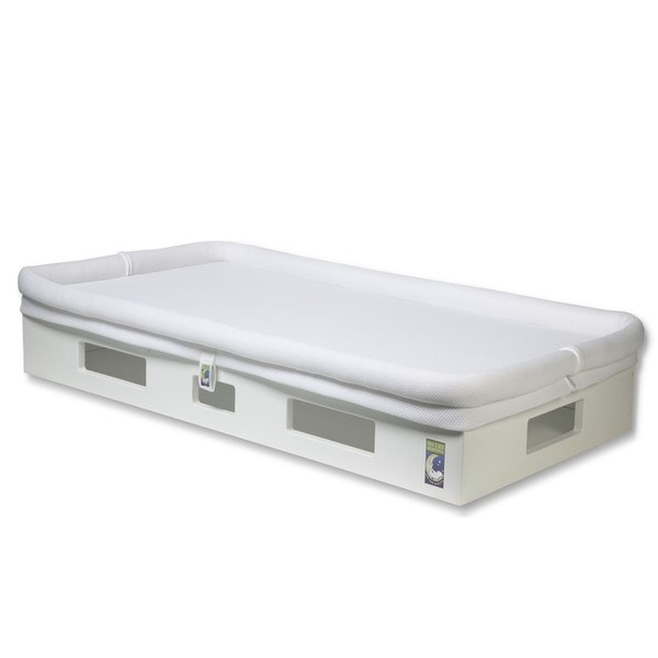 SafeSleep Breathable White Crib Mattress and Base