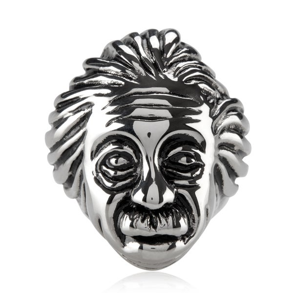 Crucible Men's Albert Einstein Stainless Steel Ring - 38mm Wide