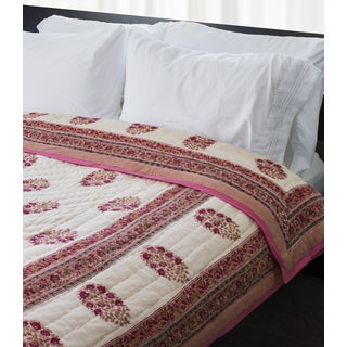 Indian Palace Quilt - Red Floral (India)