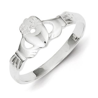 Sterling Silver Solid Claddagh Ring by Versil