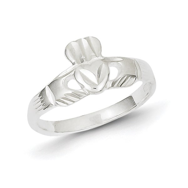 Sterling Silver Polished Claddagh Ring by Versil