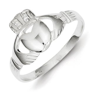 Sterling Silver Sleek Claddagh Ring by Versil