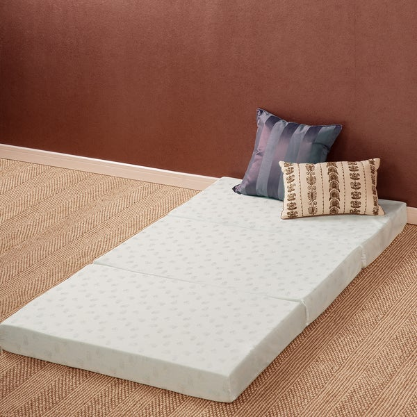 Priage 4-inch Twin-size Tri-Fold Comfort Memory Foam Mat