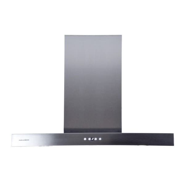 Hallman Island-mount Chimney 48-inch Stainless Steel Range Hood with 860 CFM Blower
