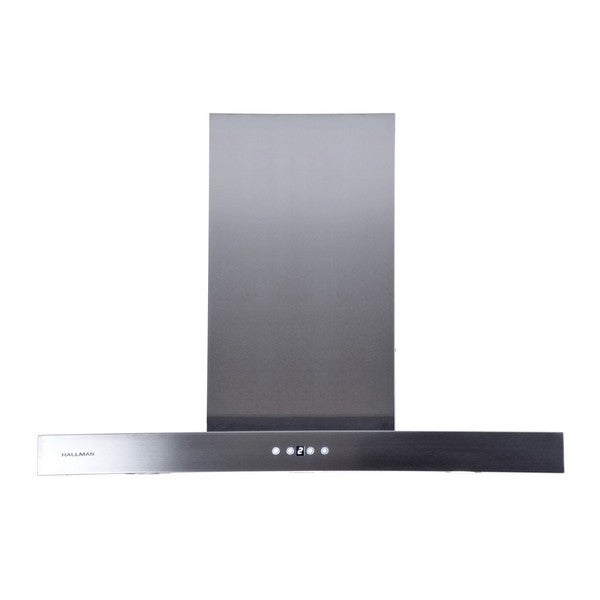 Hallman Stainless Steel 36-inch Island-mount Chimney-style 860-cubic-feet-per-minute Range Hood
