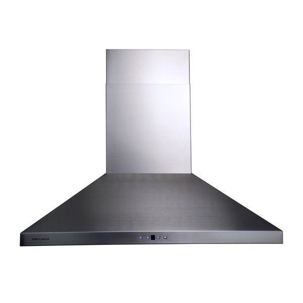 Hallman Stainless Steel 36-inch Chimney-style 860-cubic-feet-per-minute Range Hood