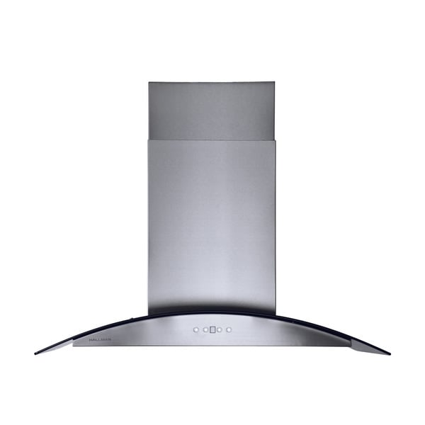 Stainless Steel 36-inch Island Chimney Style Range Hood with 860 CFM