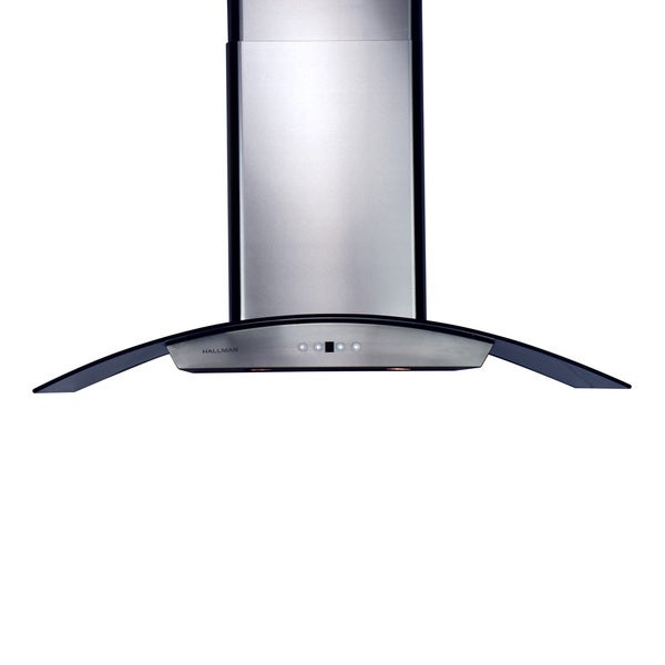 Glass/Stainless Steel 20-inch Wall-mount Canopy Chimney Range Hood with 860 CFM