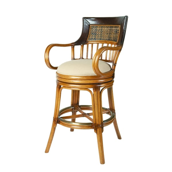 David Francis Leather Top Barstool