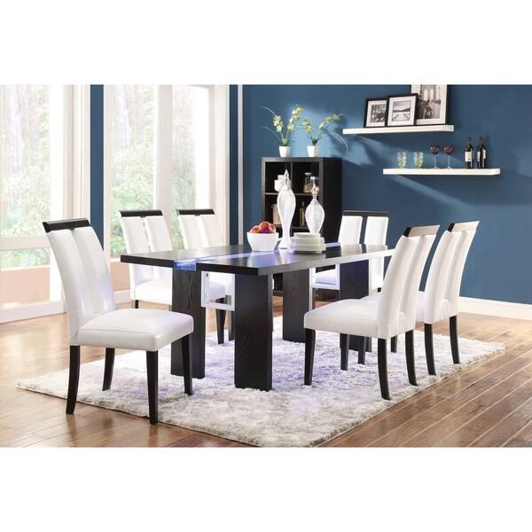 LED Lit Black Dining Table