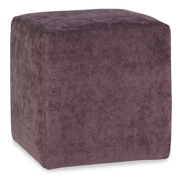 Kendall Purple Fabric Square Ottoman