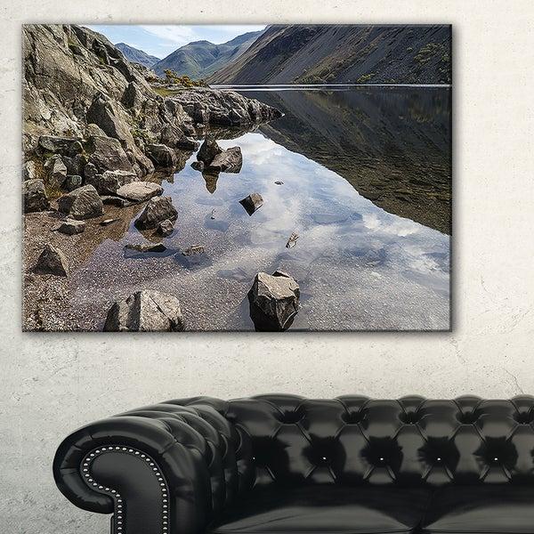 Stunning Wast Water Reflection - Landscape Artwork Canvas
