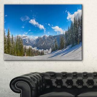 Austrian Alps Seen From Ski Slope - Landscape Art Canvas Print
