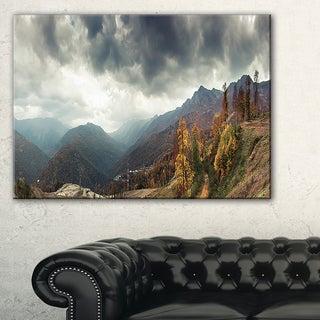 Caucasus Mountains White Panorama - Landscape Artwork Canvas