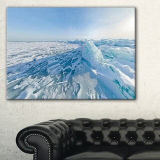 Ice Hummocks in Lake Baikal Siberia - Landscape Artwork Canvas