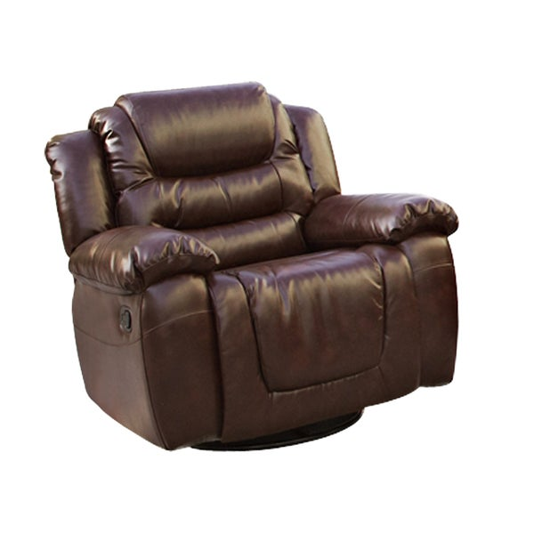Cheverly Burgundy Faux Leather Rocking Reclining Chair