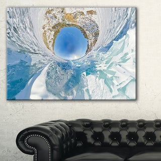 Blue Ice Hummocks Baikal Little Planet - Landscape Artwork Canvas
