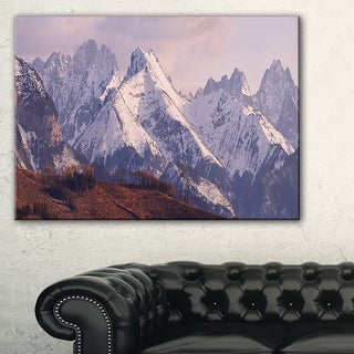 Snowy Tatra Mountains in Spring - Landscape Art Canvas Print