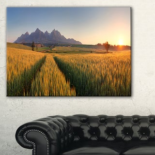 Summer Wheat Fields Slovakia - Landscape Artwork Canvas