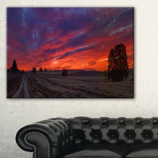Gorgeous Cloudy Sky during Fall - Landscape Print Wall Artwork