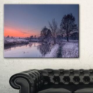 Frosty Fall Morning Panorama - Landscape Print Wall Artwork