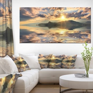 Hill Overlooking the Seaside Town - Landscape Art Canvas Print