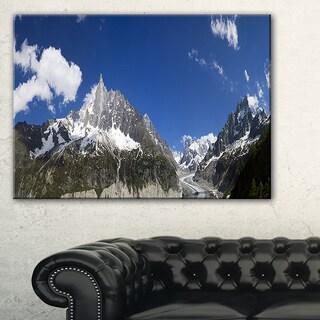 Glacier nearby Chamonix Panorama - Landscape Artwork Canvas
