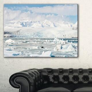 Vatnajokull Glacier in Iceland - Landscape Wall Art Canvas Print