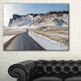 Range Road in Winter Mountains - Landscape Wall Art Canvas Print