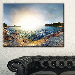 Rocky Coast in Andaman Sea - Landscape Wall Art Canvas Print