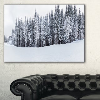 Black and White Snow-Capped Hills - Landscape Wall Art Canvas Print