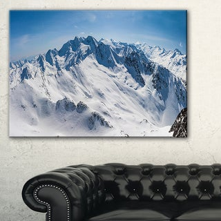 Snowy Mountains Panoramic View - Landscape Wall Art Canvas Print