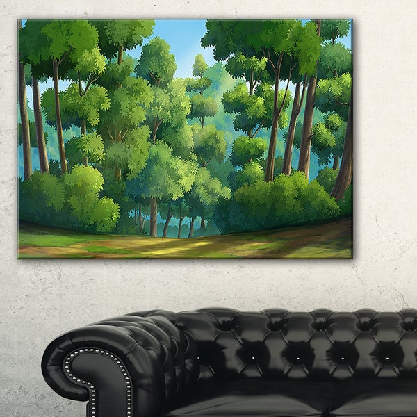 Green Jungle with Dense Trees - Oversized Landscape Wall Art Print