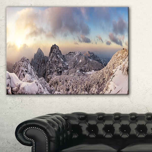 Huangshan Hill Snow in Winter - Oversized Landscape Wall Art Print
