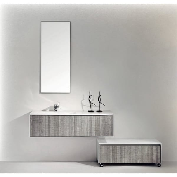 Eviva Ashy Ash Grey 48-inch Wall Mount Single Bathroom Vanity Set