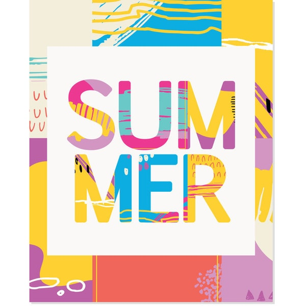 'Summer' Mix Art Print