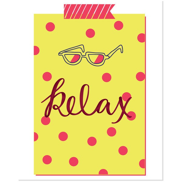 Bright Relax Multicolored Polka Dot Art Print