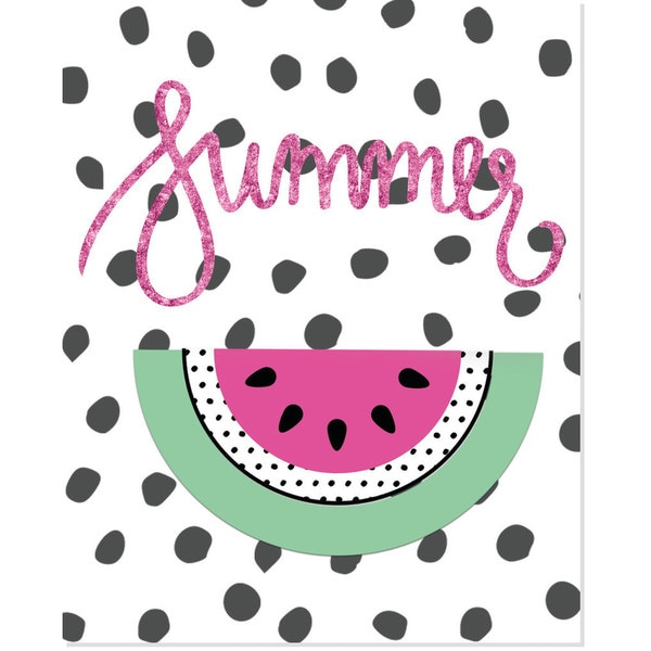 'Summer' Watermelon Art Print
