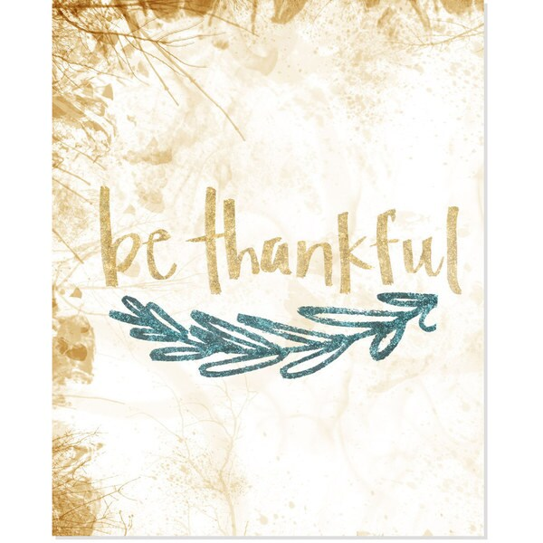 Glitter 'Be Thankful' Art Print