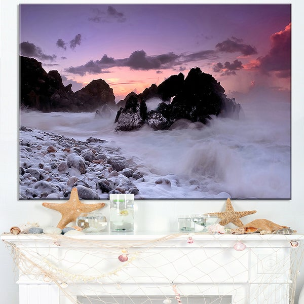 White Sand at Abano Beach Portugal - Contemporary Seascape Art Canvas