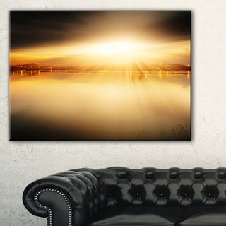 Sunset with Views on the Lake - Extra Large Wall Art Landscape