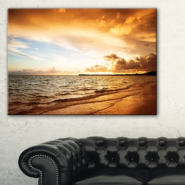 Amazing Sunrise at Atlantic Ocean - Modern Seashore Canvas Art