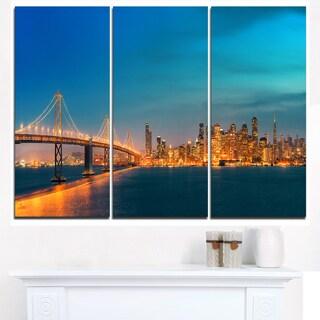 San Francisco Skyline at Night - Cityscape Canvas print