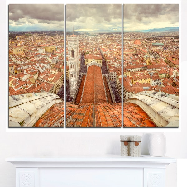 Florence View from Duomo Cathedral - Cityscape Canvas print