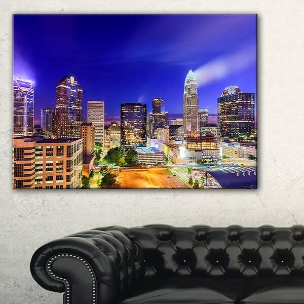 Charlotte North Carolina Cityscape - Cityscape Canvas print