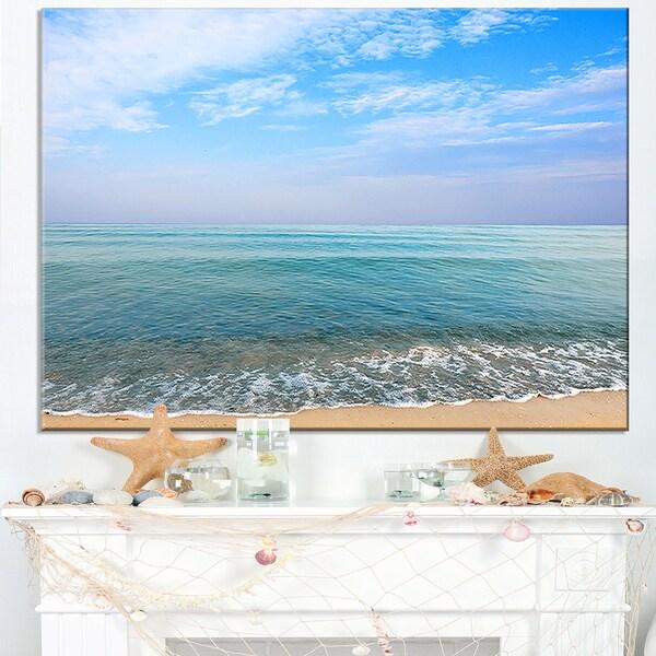 Blue Sky Sand Sun Daylight - Large Seashore Canvas Print