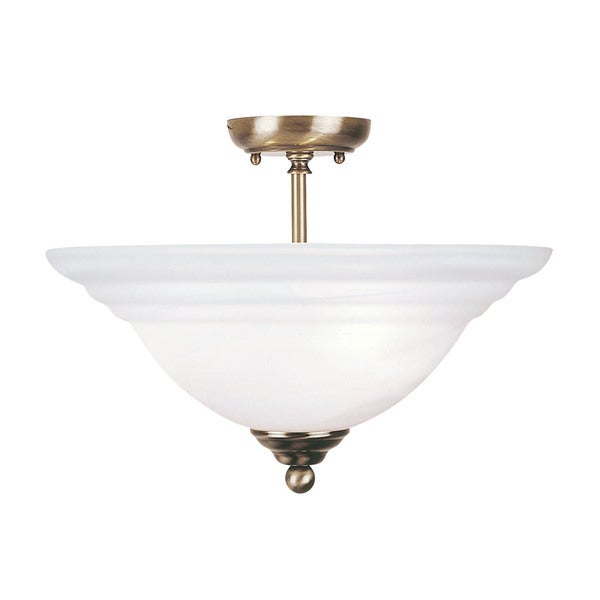 Livex Lighting North Port 3-light Antique Brass Ceiling Mount