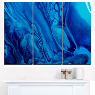 Dark Blue Abstract Acrylic Paint Mix - Abstract Art on Canvas