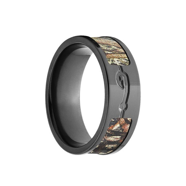 Black Zirconium Duck Blind Mossy Oak Camo Ring